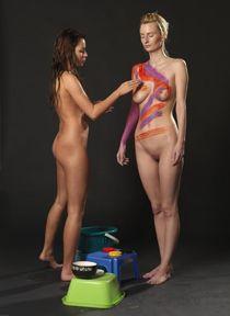 body painting nudist.