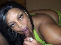 Chubby black mom Farrah Fox blowing neighbor's cick