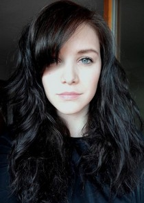 Dark-haired beauty.