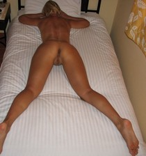 Great round ass pussy and long sexy legs of my mature blonde wife