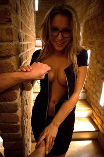 Amateur babe almost undressed