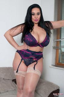 Beautiful busty girl: Anastasia Lux Sexy Lingerie Hairy Bush
