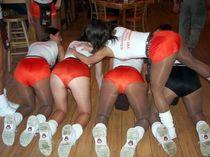 Young schoolgirls and cheerleaders without panties