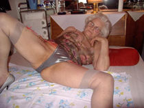 Granny ladies with silver hair show their twats