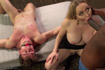 Cuckold guy by Aiden Starr must watch her getting fucked by
