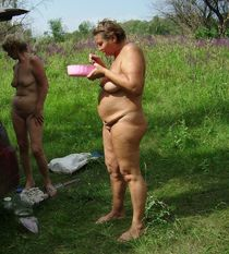 Fat moms naked outdoor
