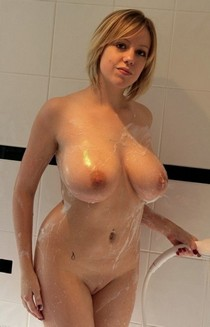 Incredible pic featuring beautiful blonde boobs.