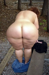Granny Chubby Big Round Ass - Plumper Mature Butt - Fat old Mom Anal Booty