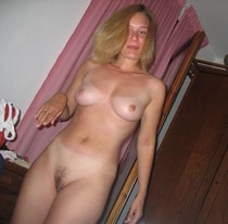 Blonde wife gets ready for sex