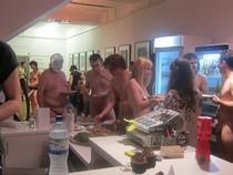 Nudist buffet.