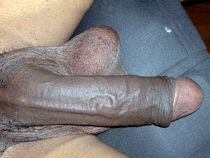 Collection of fat erect black cocks, closeup pictures
