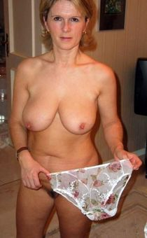 Busty German wife in the shower