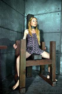 Slaves Emma & Emma restrained & shocked in brutal live bondage session